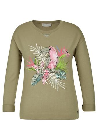 VIA APPIA Süßes Sweatshirt mit Front-Motiv kaufen