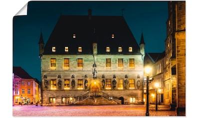 Artland Wandbild »Rathaus Osnabrück II«, Deutschland, (1 St.), in vielen Größen &... kaufen