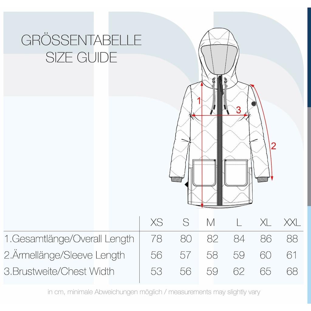 OXMO Steppmantel »Malou«, Steppjacke Parka mit Kapuze und praktischen Taschen