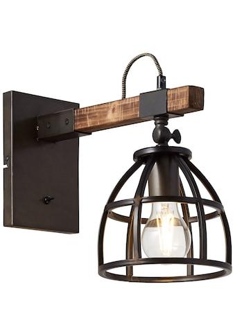 Brilliant Leuchten Matrix Wood Wandleuchte hängend schwarz stahl/holz kaufen