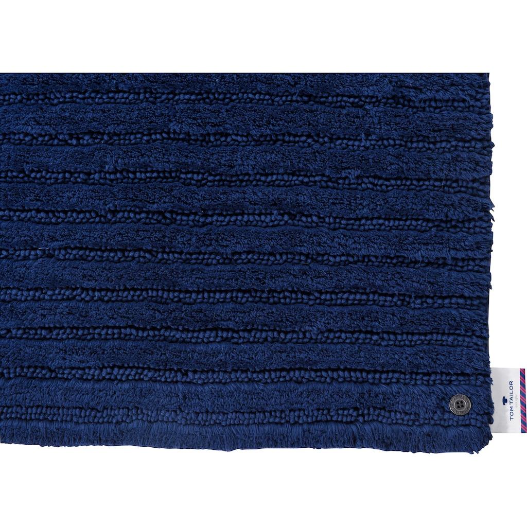 TOM TAILOR Badematte »Cotton Stripes«, Höhe 20 mm, rutschhemmend beschichtet, fußbodenheizungsgeeignet-strapazierfähig, besonders weich und flauschig