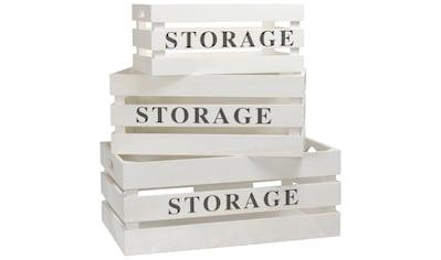 ADOB Set: Aufbewahrungsbox »Holzkisten«, 3er Set kaufen