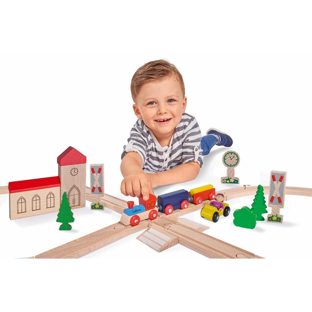 Eichhorn Spielzeug-Eisenbahn »Achterbahn, 35-tlg.«, aus Holz; Made in Europe, FSC®-Holz aus gewissenhaft bewirtschafteten Wäldern