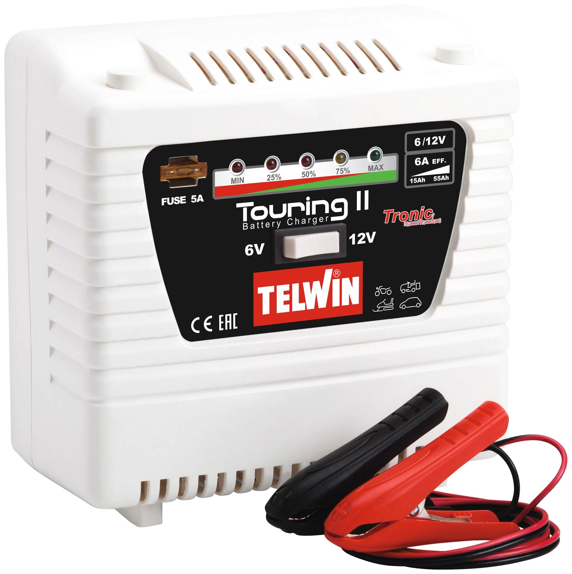 TELWIN Autobatterie-Ladegerät Touring 11, 2000 mA, 6/12 V weiß Autobatterie-Ladegeräte Autozubehör Reifen