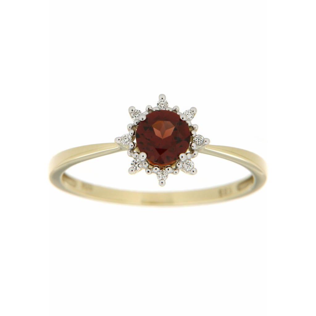 Firetti Diamantring, mit Granat und Brillanten