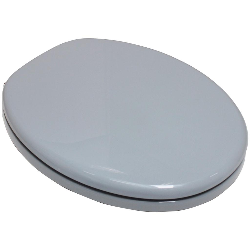 ADOB WC-Sitz »Capri«, mit Messing verchromten Scharnieren