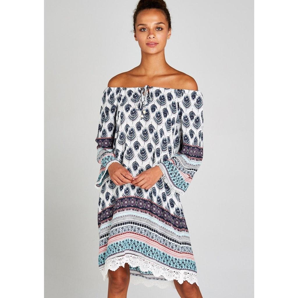 Apricot Tunikakleid »Feather Border Crochet Trim Dress«, mit Häkelsaum