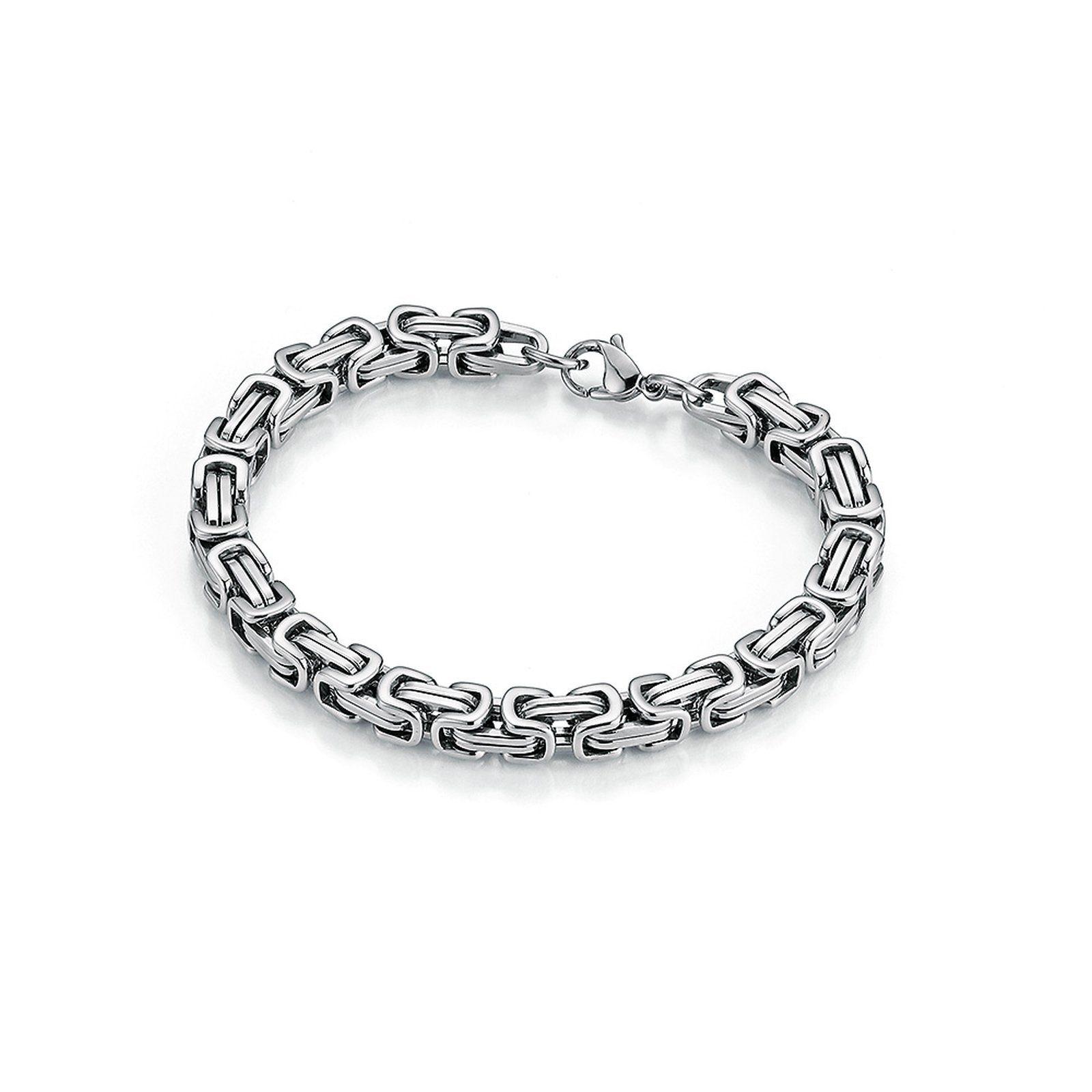 Jacques Charrel Armband massiv, Königsarmbandoptik silberfarben Damen Armketten Armbänder Schmuck