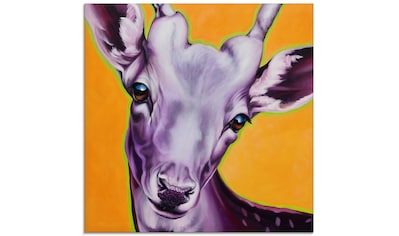 Artland Glasbild »Reh orange«, Wildtiere, (1 St.) kaufen