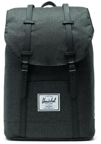 Herschel Laptoprucksack »Retreat - Black Crosshatch« kaufen