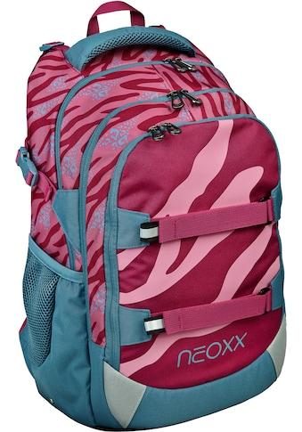 neoxx Schulrucksack »Active, Berry Vibes«, Reflektionsnaht-Floureszierende Flächen,... kaufen