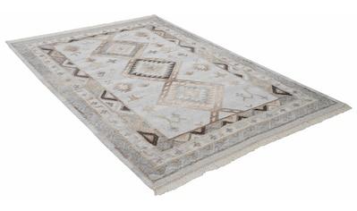 THEKO Wollteppich »Kena 424«, rechteckig, 5 mm Höhe, reine Wolle, Kurzflor, mit... kaufen