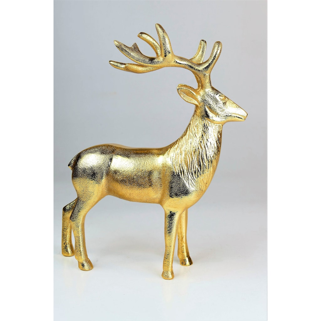 """ARTRA Dekofigur »Hirschfigur """"Rudolph""""«, in Gold, Tischdeko, Gastgeschenke"""