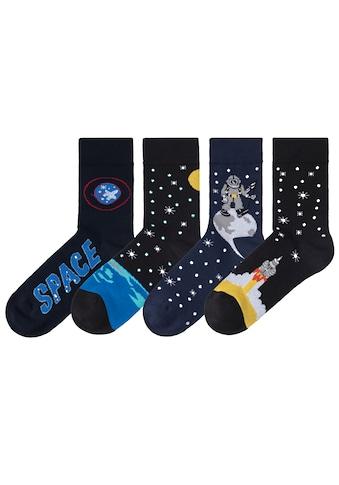 H.I.S Socken, (4 Paar), mit eingestrickten Motiven kaufen