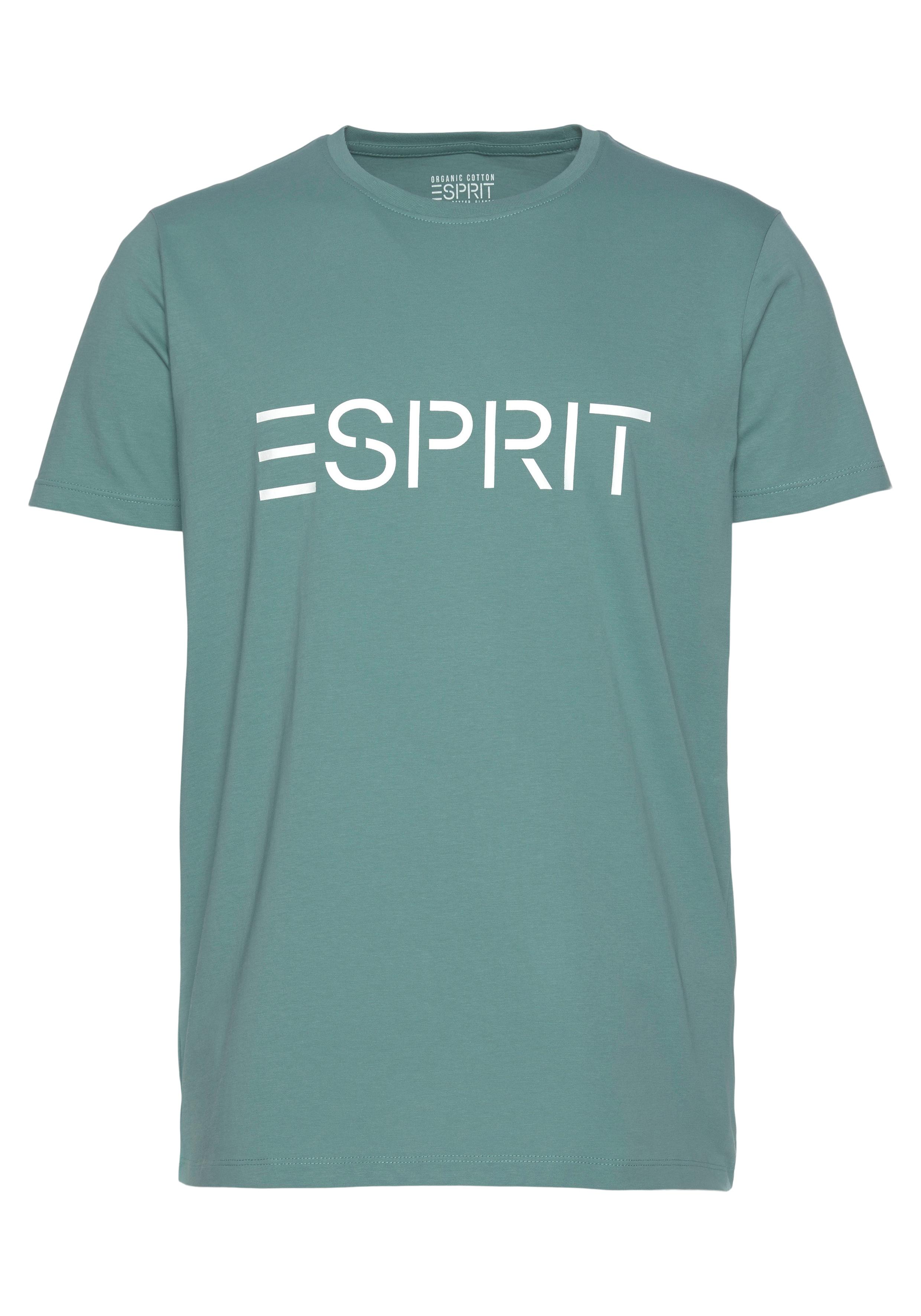 esprit -  T-Shirt, mit Logofrontprint