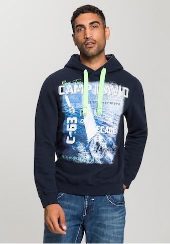 CAMP DAVID Kapuzensweatshirt, Mit vielen großen Printelementen kaufen