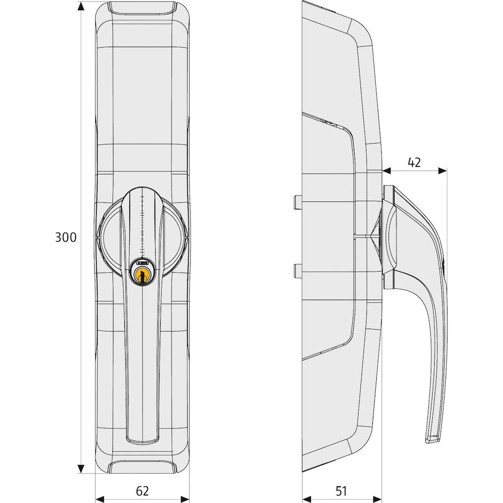 ABUS Türschlossantrieb »FCA3000 W AL0089 HomeTec Pro«, Abschließen mit Fernbedienung oder Codeeingabe, mit Alarm