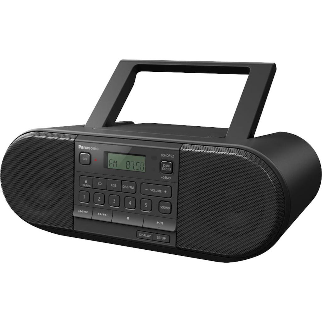 Panasonic Boombox »RX-D552E-K CD-«, (Bluetooth FM-Tuner-Digitalradio (DAB+)-UKW mit RDS 20 W)