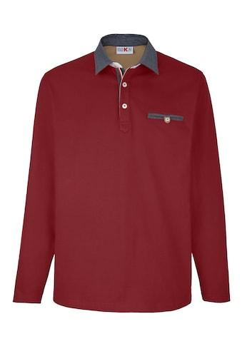 Roger Kent Poloshirt mit Chambray - Details kaufen