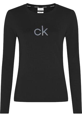 Calvin Klein Kurzarmshirt »SS CK LUREX LOGO TEE«, mit CK Monogramm-Logo im Glitzerprint kaufen