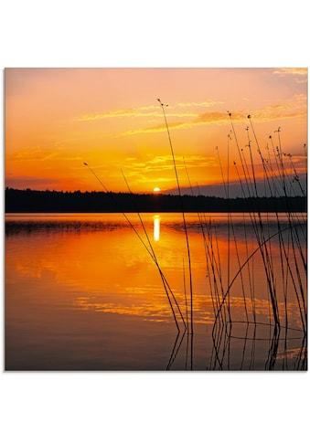 Artland Glasbild »Landschaft mit Sonnenaufgang«, Sonnenaufgang & -untergang, (1 St.) kaufen