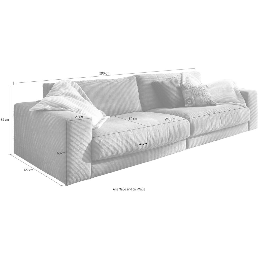 INOSIGN Big-Sofa »Enisa«, Kuschelig, gemütlich, weich, in 5 Farben, mit Zierkissen