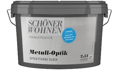 SCHÖNER WOHNEN-Kollektion Wandfarbe »Metall-Optik Effektfarbe silber«, glänzend, 2,5 l kaufen