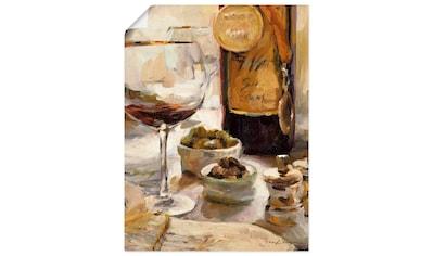 Artland Wandbild »Ausgezeichneter Wein«, Getränke, (1 St.), in vielen Größen &... kaufen