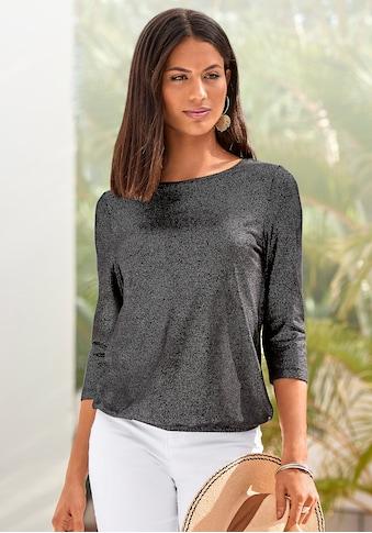 Vivance 3/4-Arm-Shirt, mit silbrigem Glitzerdruck kaufen