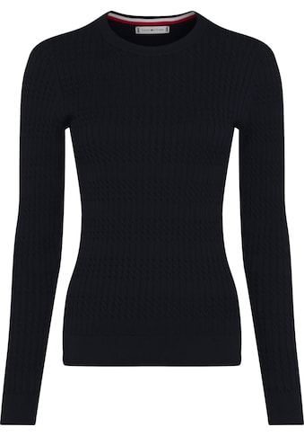 TOMMY HILFIGER Strickpullover »TH ESS CABLE C - NK SWEATER LS« kaufen