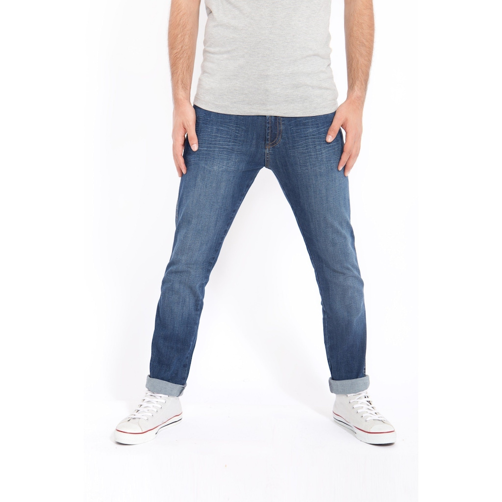 Way of Glory 5-Pocket-Jeans »John«, mit Sitzfalten in Stone Wash