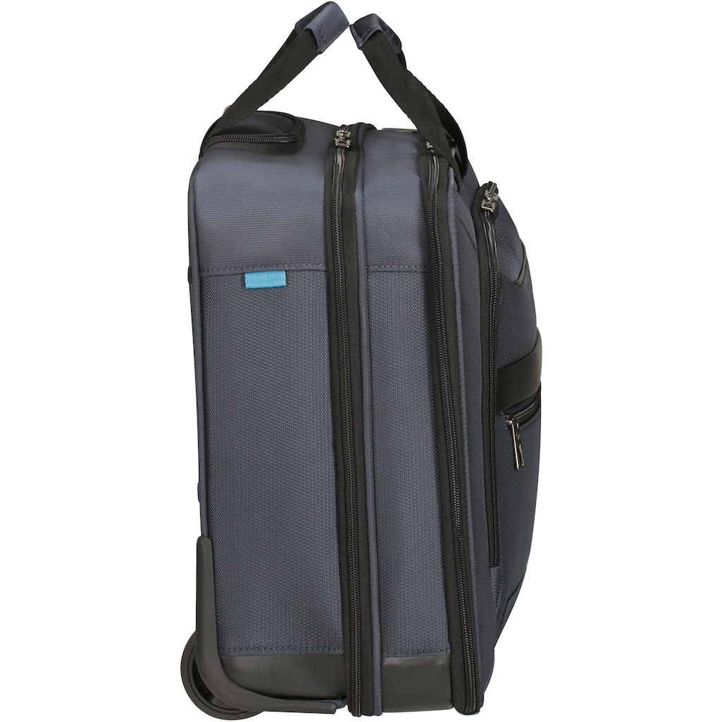 Samsonite Business-Trolley »Vectura Evo Roling Tote 17.3, blue«, 2 Rollen, mit 17,3 Zoll Laptopfach