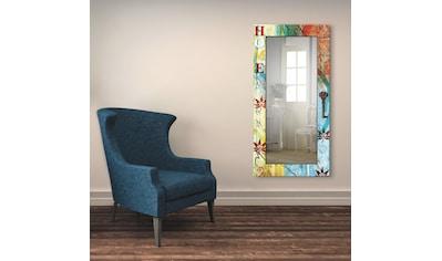Artland Wandspiegel »Buntes Zuhause«, gerahmter Ganzkörperspiegel mit Motivrahmen,... kaufen
