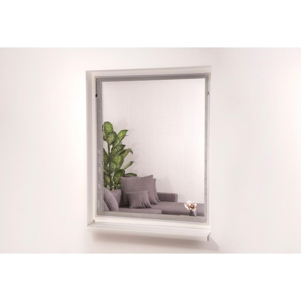 hecht international Insektenschutz-Fenster »EASY«, weiß/anthrazit, BxH: 130x150 cm