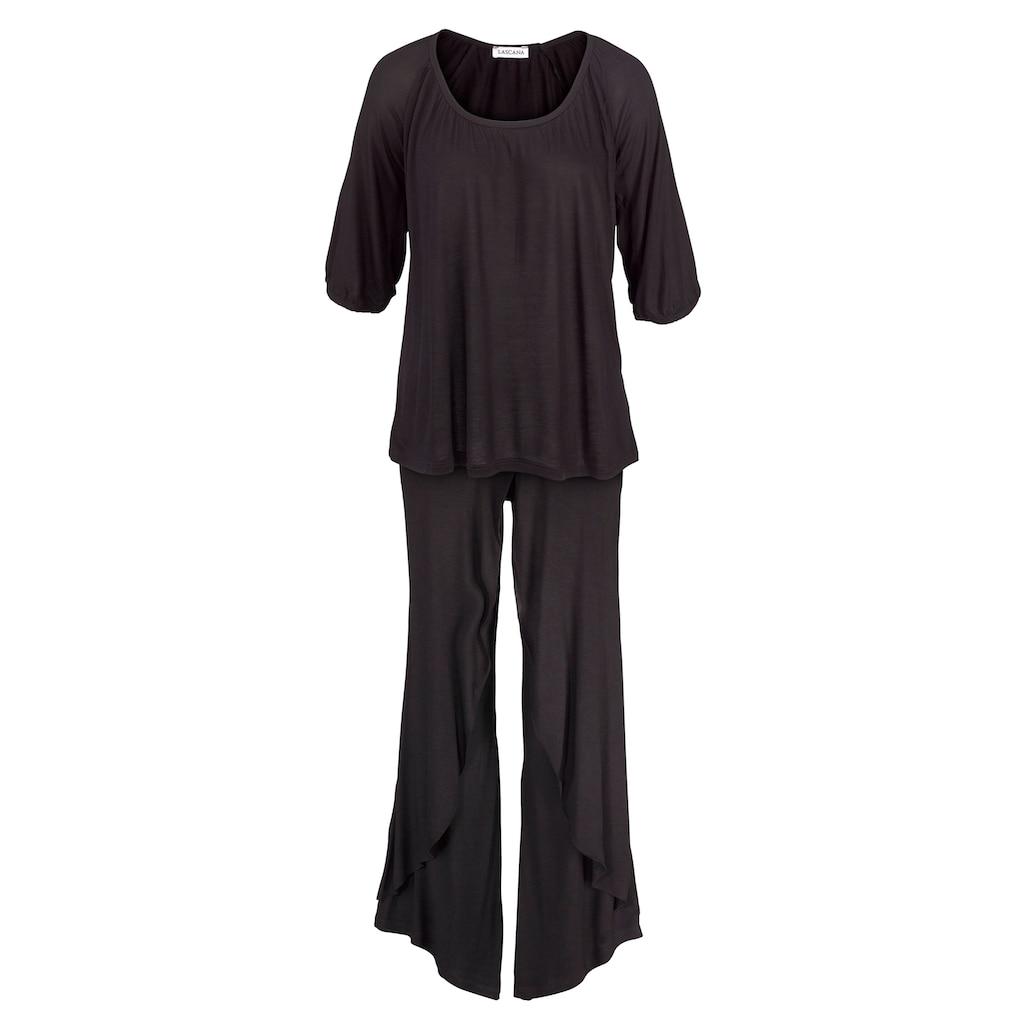 LASCANA Pyjama, in edler Layeroptik