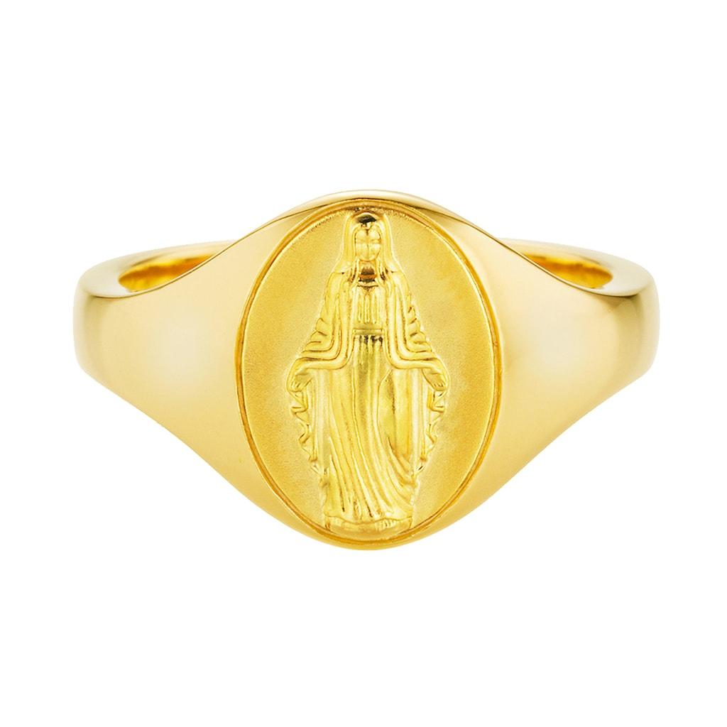 CAÏ Fingerring »925/- Silber vergoldet Madonna«, Ring