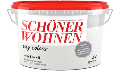 SCHÖNER WOHNEN-Kollektion Wand- und Deckenfarbe »my colour - my fossil«, matt, 5 l kaufen
