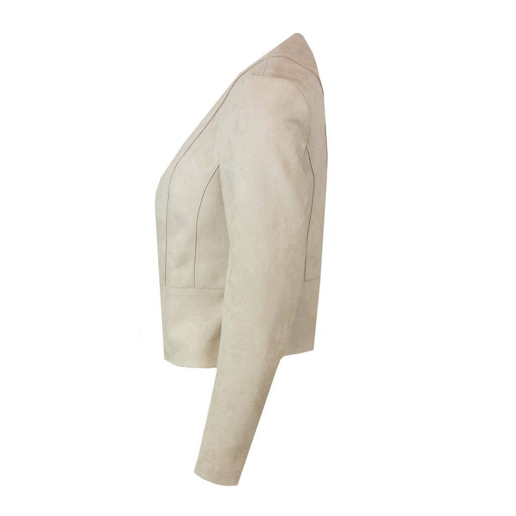 bianca Kurzjacke »CORINNA«, in angenehmer Velourslederoptik