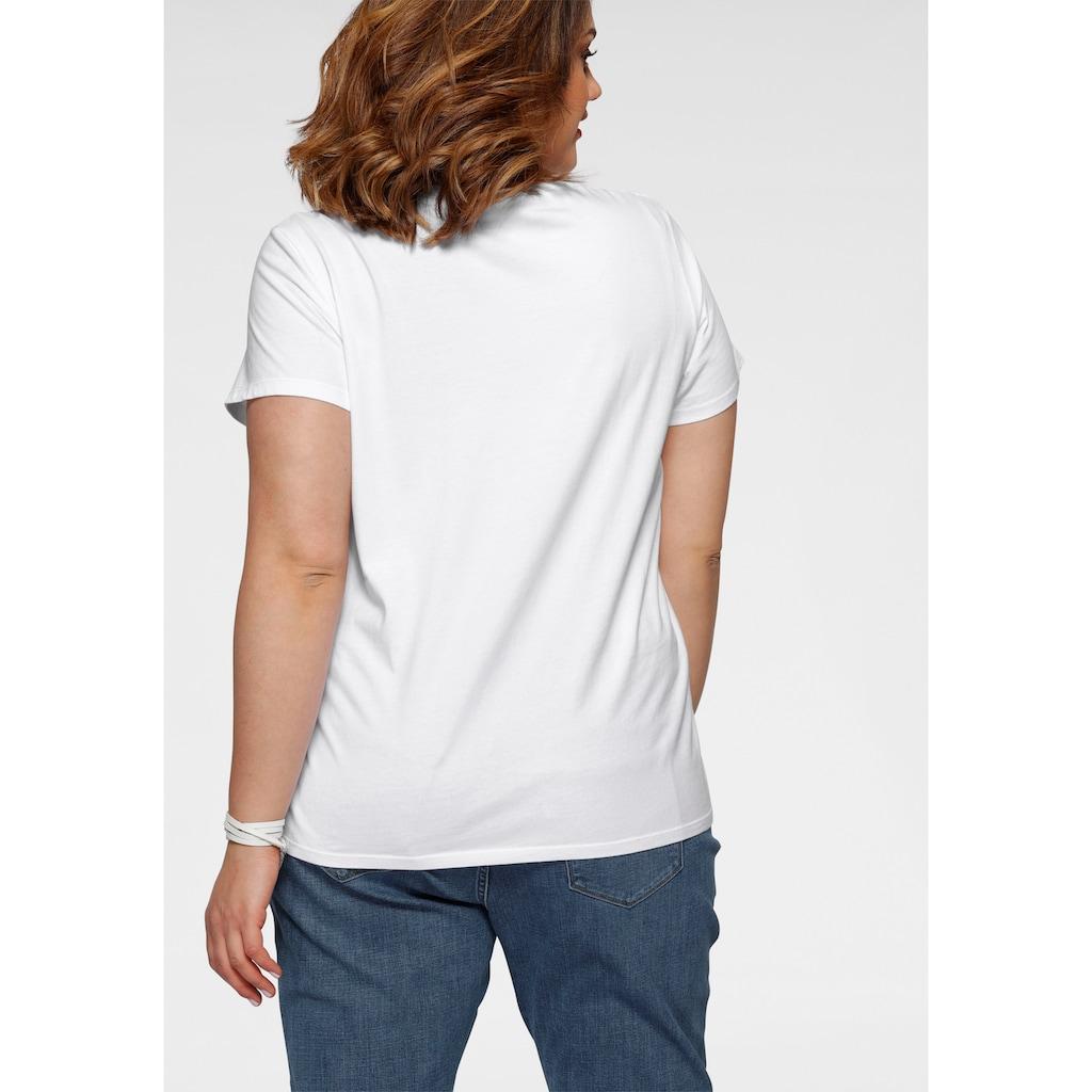 Levi's® Plus Rundhalsshirt »The perfect Tee«, mit Logo- und Sterneprint