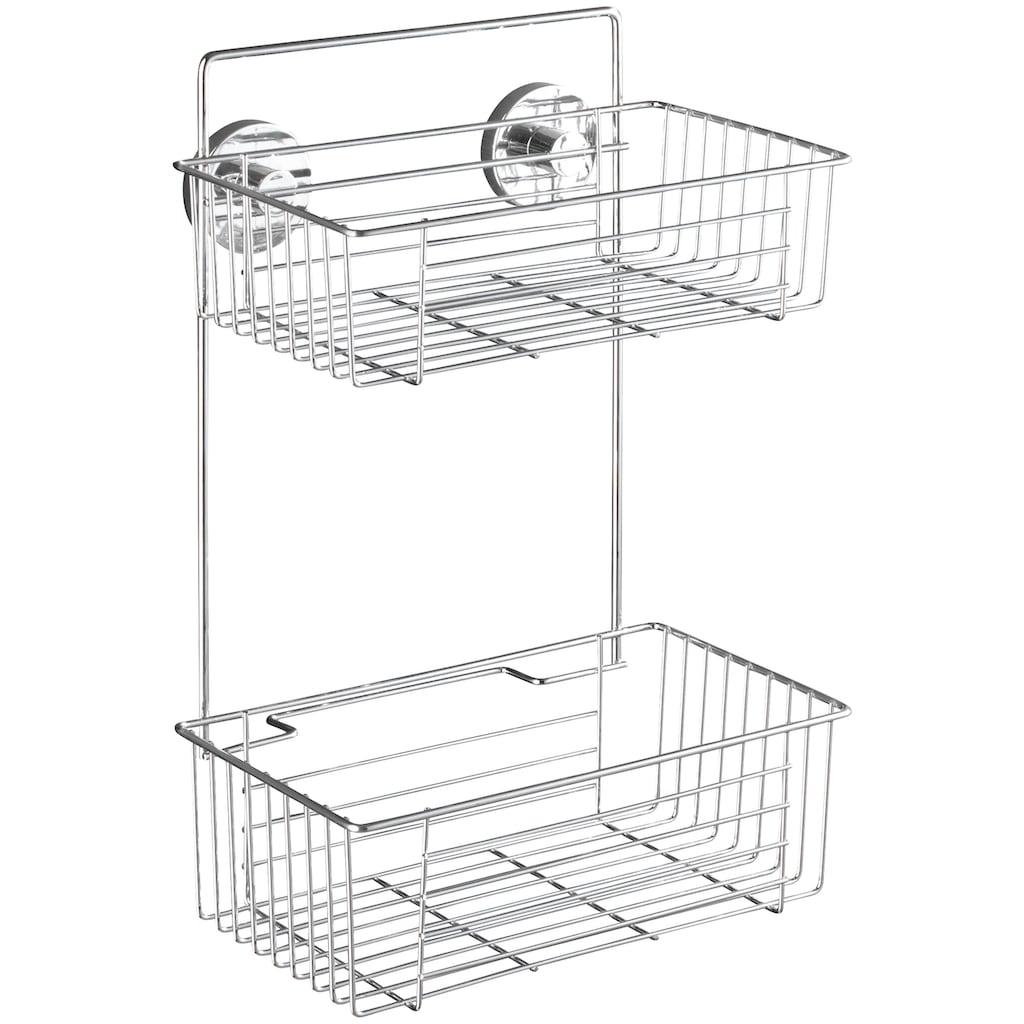 WENKO Duschablage »Bari«, mit 2 Etagen, Vacuum-Loc Befestigen ohne bohren
