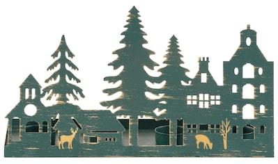 Home affaire Kerzenhalter »Weihnachtsdorfsilhouette« kaufen