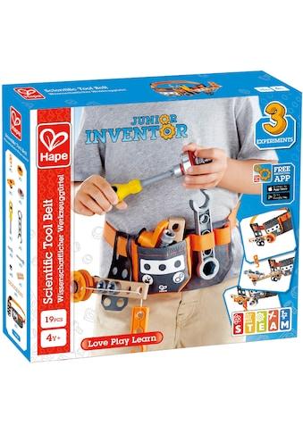 Hape Konstruktions-Spielset »Junior Inventor Wissenschaftlicher Werkzeuggürtel«, (19 St.) kaufen