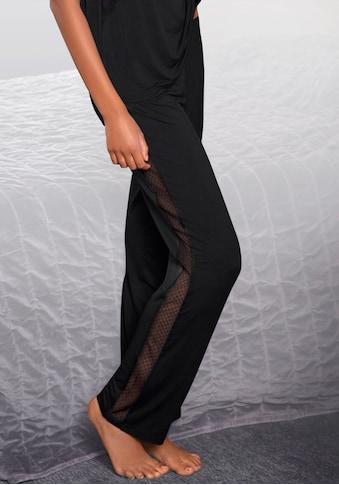 LASCANA Pyjamahose, mit Seitenstreifen aus transparenter Spitze kaufen