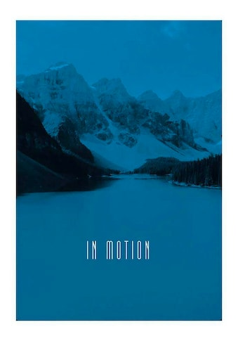 Komar Poster »Word Lake In Motion Blue«, Natur, Höhe: 70cm kaufen