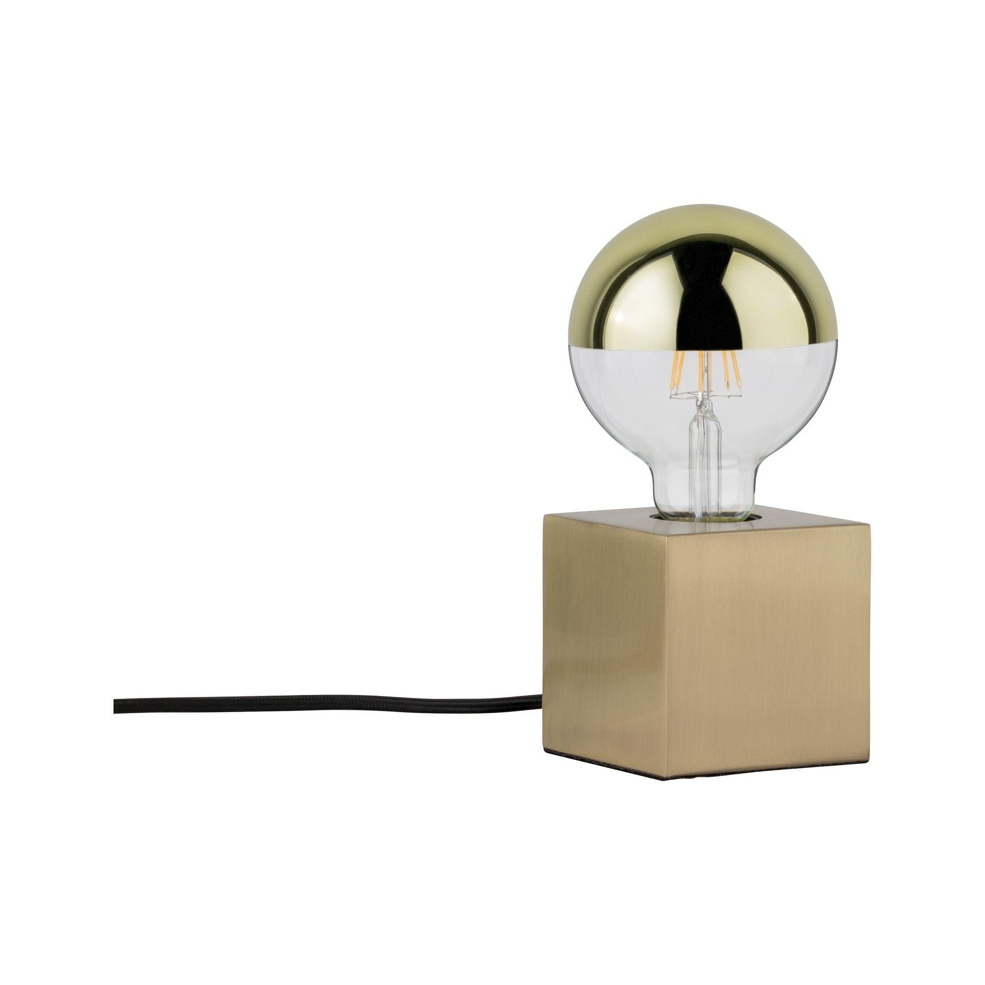 Paulmann LED Tischleuchte Dilja Messing gebürstet, max. 20W E27, E27, 1 St.