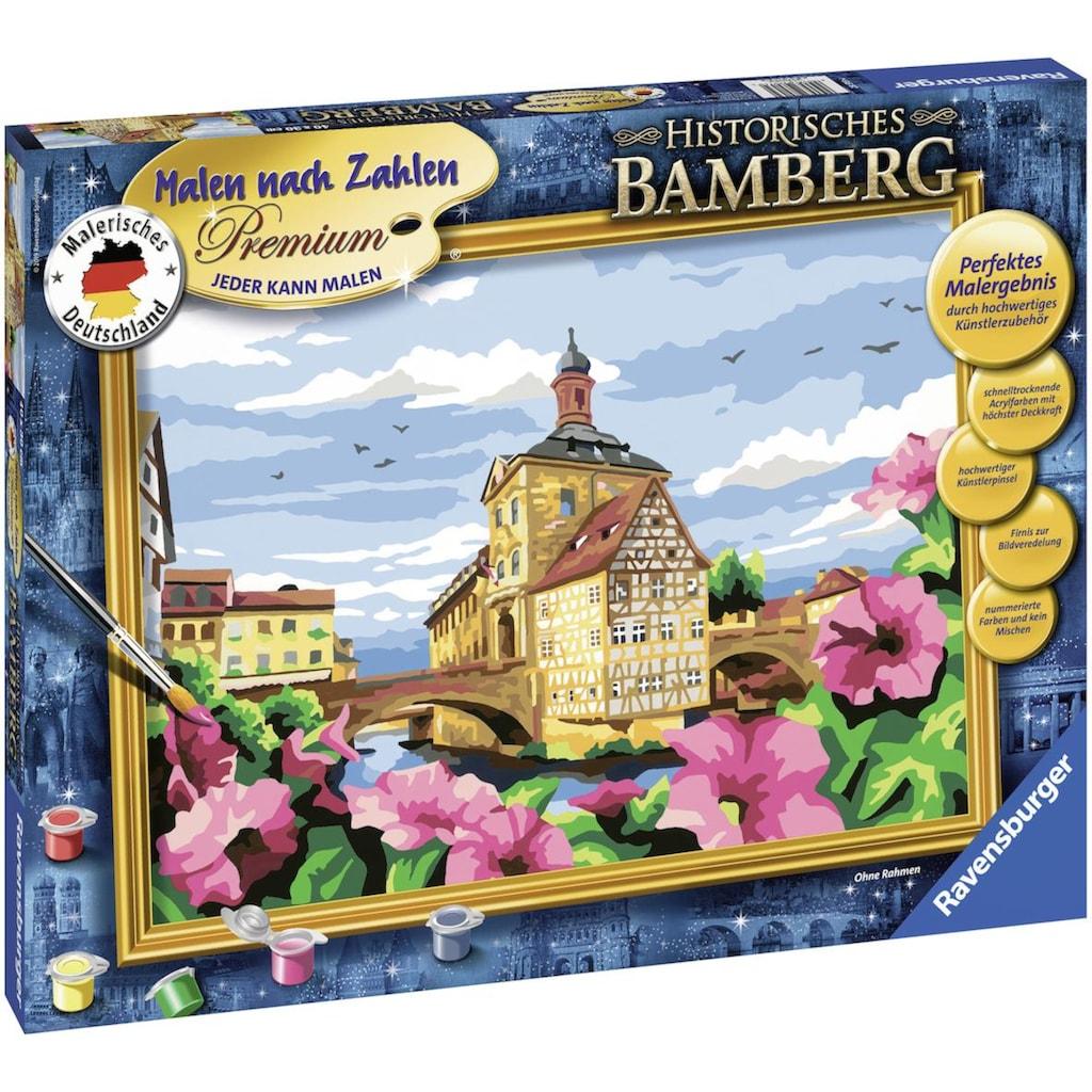 Ravensburger Malen nach Zahlen »Malerisches Deutschland - Historisches Bamberg«, Made in Europe, FSC® - schützt Wald - weltweit