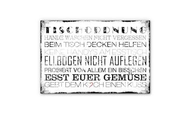 Wall-Art Herd-Abdeckplatte »Spritzschutz Küche Tischordnung«, (1 tlg.) kaufen