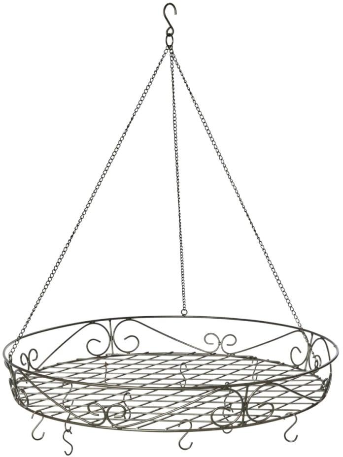 Hängekorb Deckenkranz Antik, Ø 60 cm schwarz Körbe Aufbewahrung Ordnung Wohnaccessoires