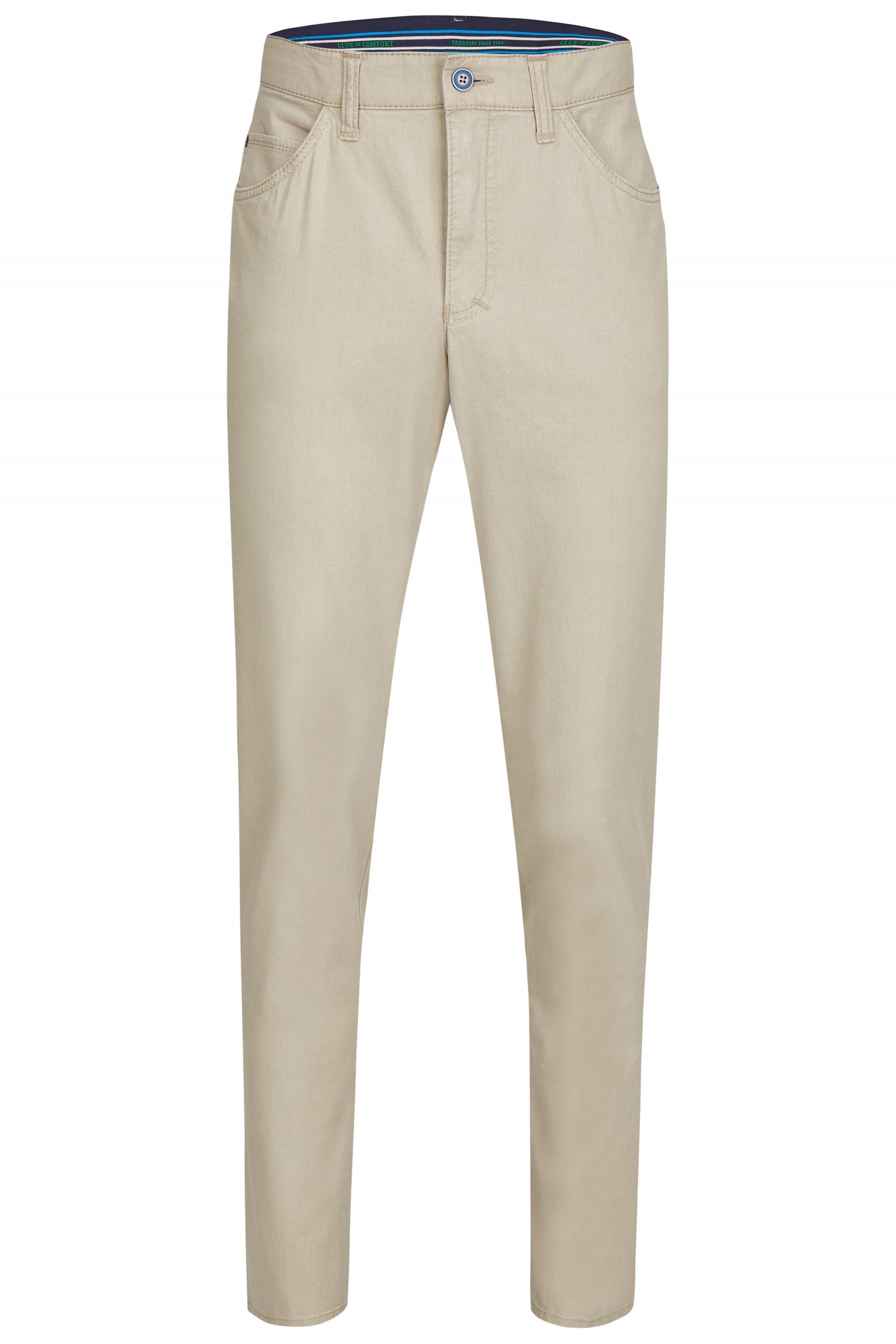 Club of Comfort Chino-Hose mit elastischem Komfortbund | Bekleidung > Hosen > Sonstige Hosen | Braun | Samt - Elasthan | Club Of Comfort