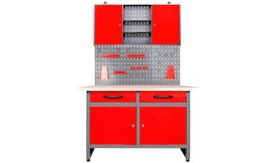 ONDIS24 Werkstatt-Set »Werner«, 120 cm, mit Lochwandsystem inkl. Haken kaufen
